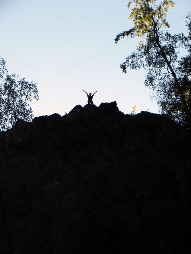 Radost a euforie vás bude čekat na samotném vrcholu, po zdolání skály.