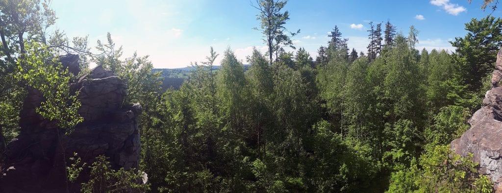 Výhledy do oblasti Devět skal jsou úchvatné.