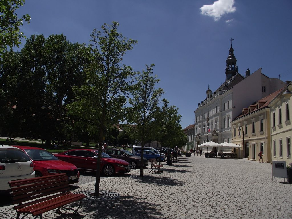 Krásné centrum Valtic.