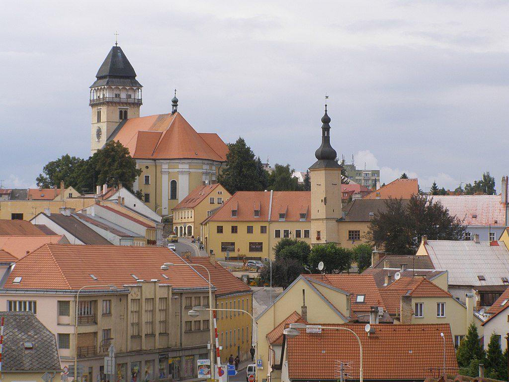 Krásné historické město Dačice.